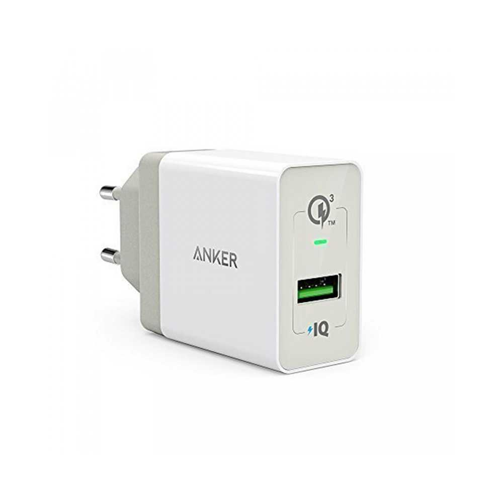 Anker PowerPort+ 1 with Quick Charge 3.0 EU - White (A2013L21)
