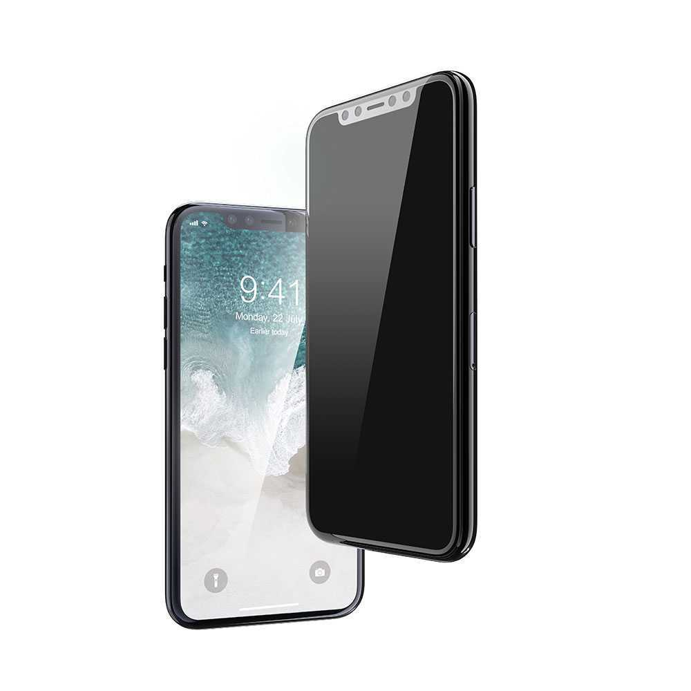 Devia Real Series 3D Full Screen Privacy Tempered Glass for Apple iPhone 11 - Black