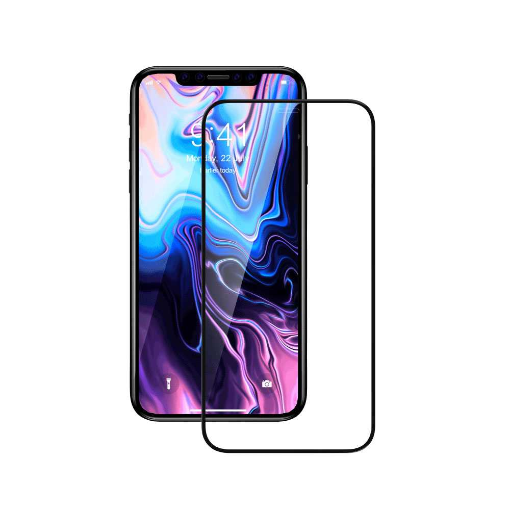 Devia Van Entire View Full Tempered Glass for Apple iPhone 11 Pro  - Black
