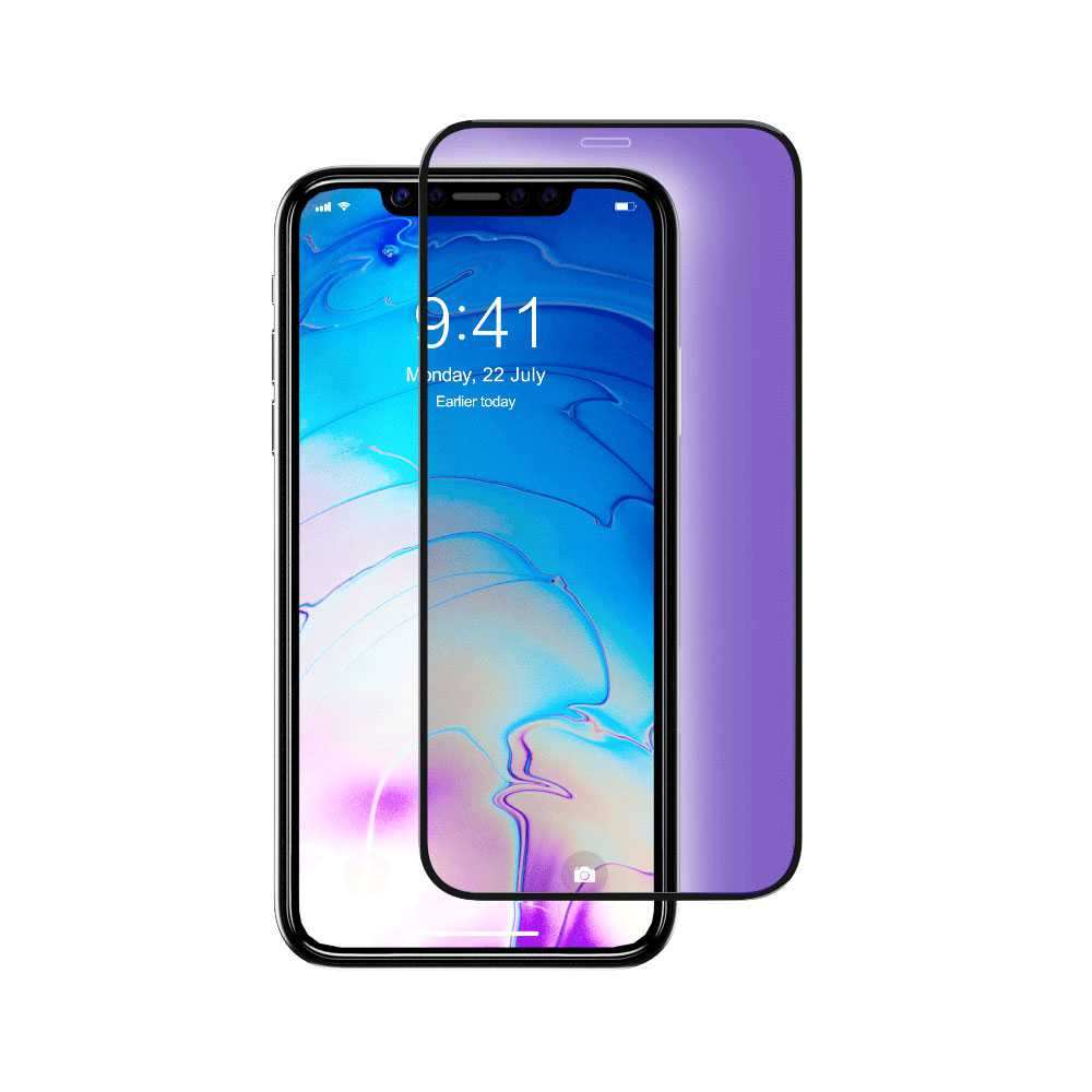 Devia Anti-Blue Ray Full Screen Tempered Glass for Apple iPhone 11 Pro Max - Black