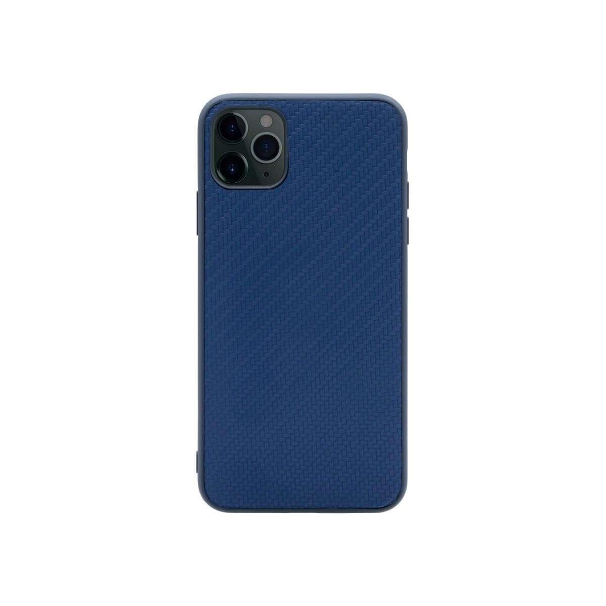 Porodo TPU Carbon Design Case For iPhone 11 Pro Max - Blue