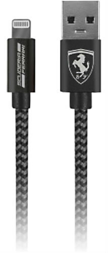 Ferrari Nylon Lightning Cable 1.5m (MFI License) - Dark Gray