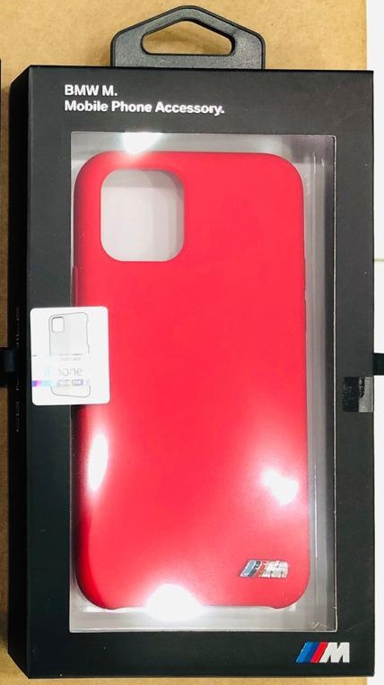 BMW Silicone Case With M Logo For Apple iPhone 11 Pro Max - Red