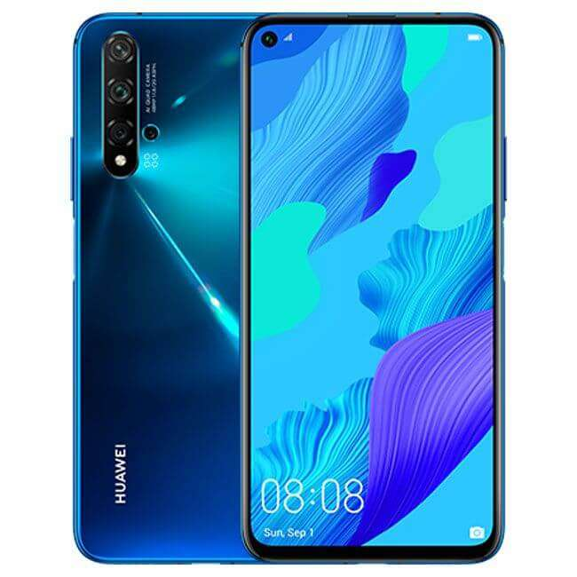 Huawei Nova 5T Dual Sim - 128GB, 8GB RAM, 4G LTE, Crush Blue