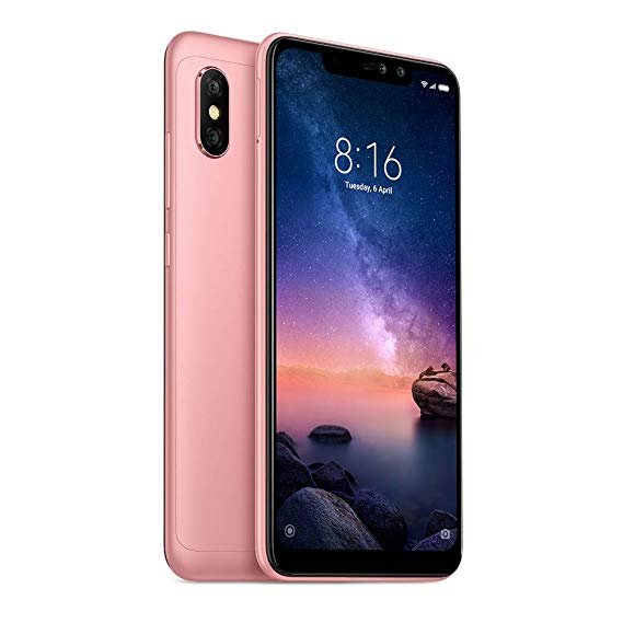 Xiaomi Redmi Note 6 Pro Dual SIM - 64GB, 4GB RAM, 4G LTE, Rose Gold Global Versia