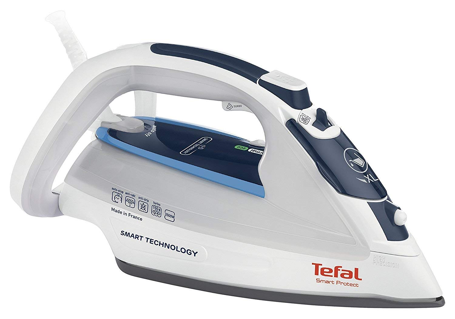 Tefal FV4970 Smart Protect Steam Iron - White