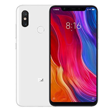 Xiaomi mi 8 Dual Sim 4G LTE 64GB 6GB RAM- White Global Versia