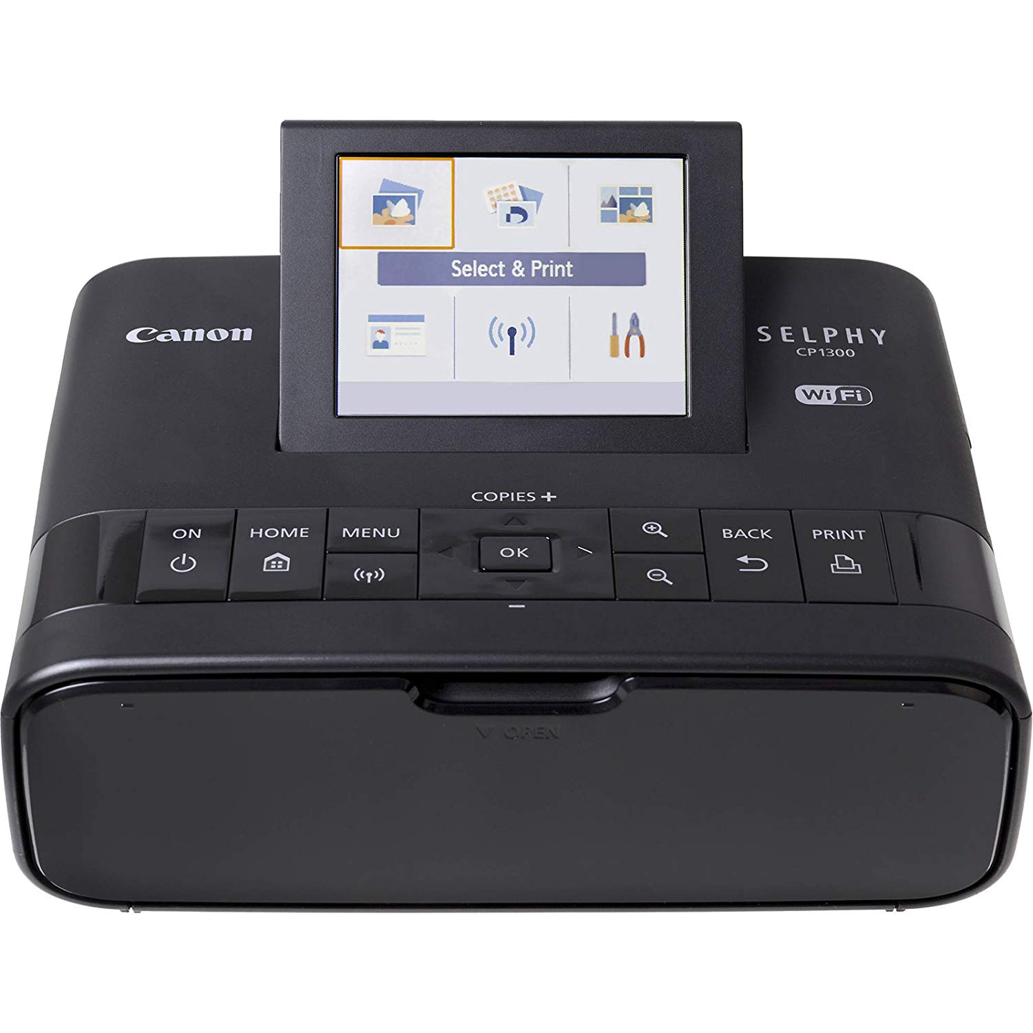 Canon Wireless Selphy Compact Photo Printer CP1300 Black