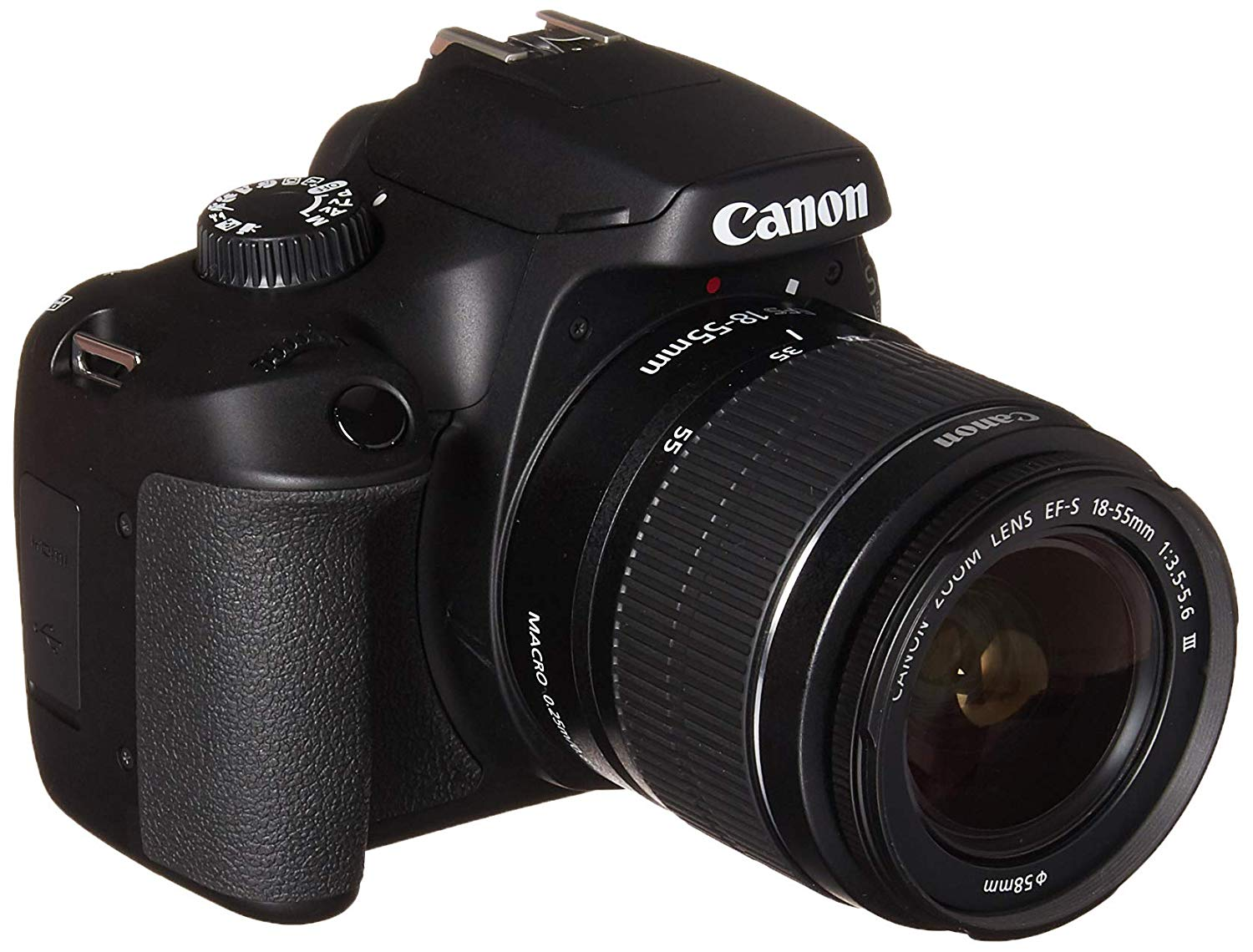 Canon EOS 4000D DSLR Camera With EF-S 18-55mm III Lens Kit