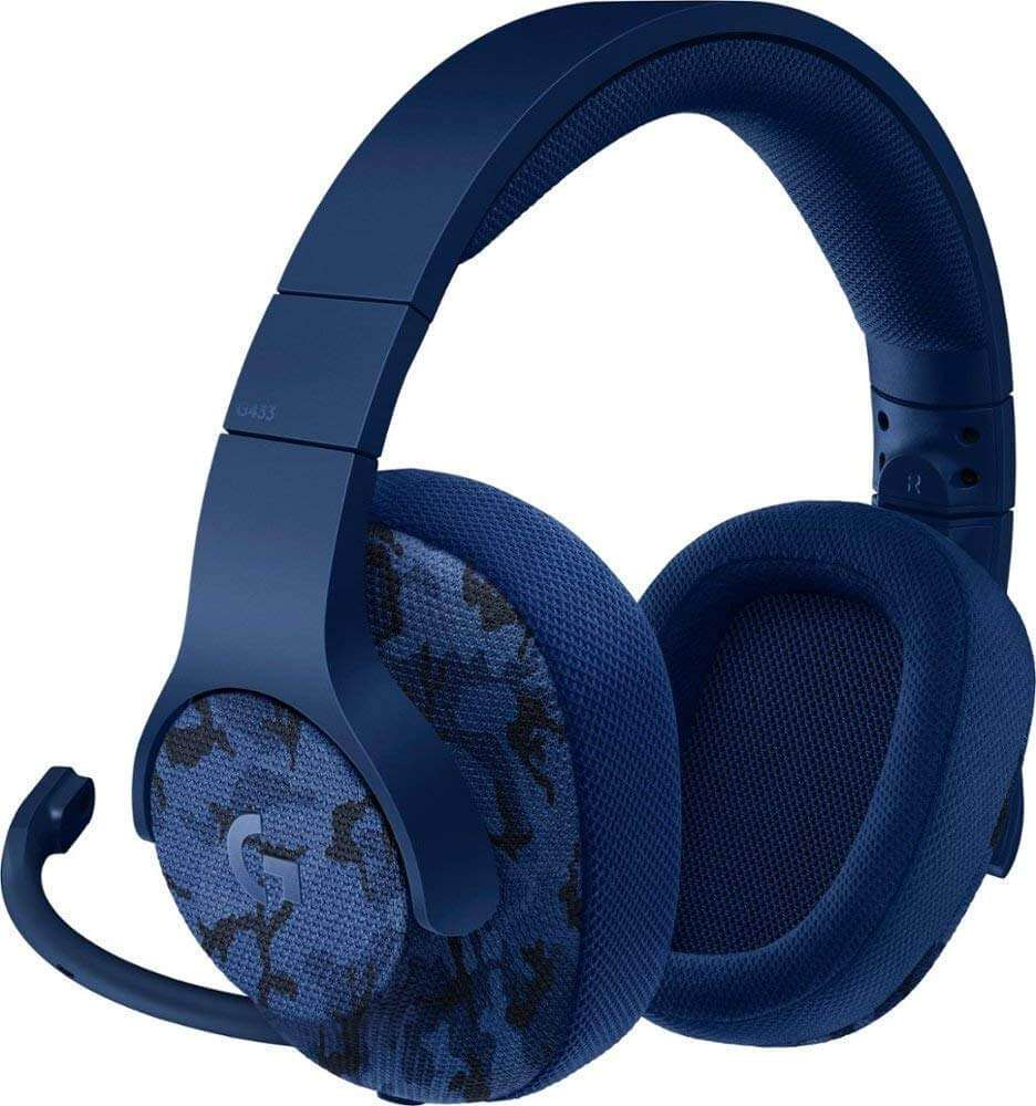 Logitech G433  Wired Gaming Headset - Camo Blue