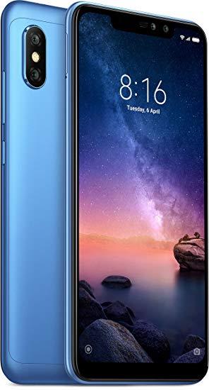 Xiaomi Redmi Note 6 Pro Dual SIM - 64GB, 4GB RAM, 4G LTE, Blue Global Versia