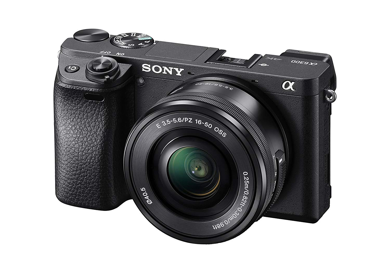 Sony Alpha a6300 Mirrorless Digital Camera with 16-50mm Lens (Black)