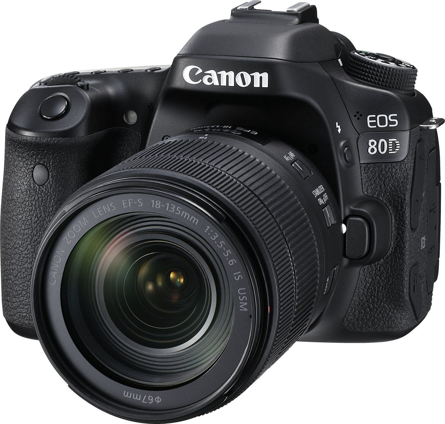 Canon EOS 80D DSLR Camera with 18-135mm Lens Black