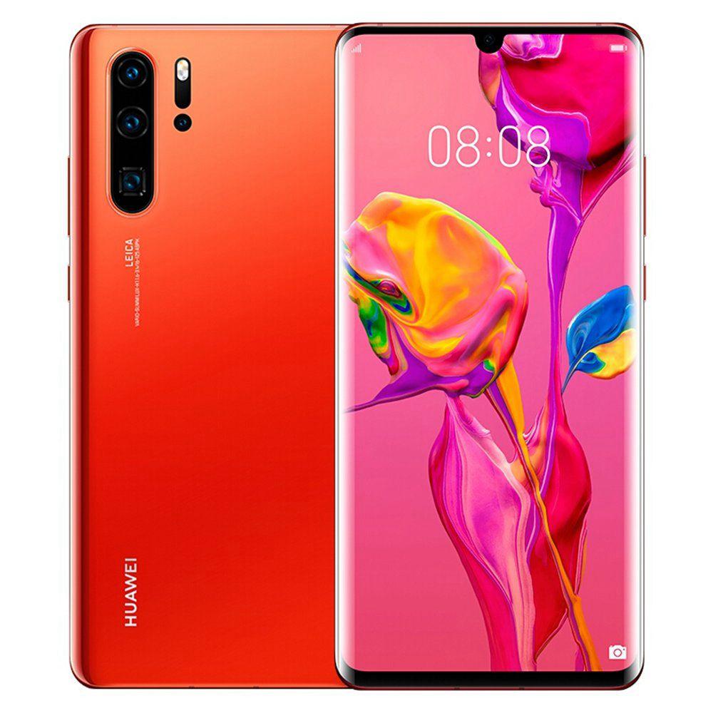 Huawei P30 Pro Dual SIM - 512GB, 8GB RAM, 4G LTE, Amber Sunrise