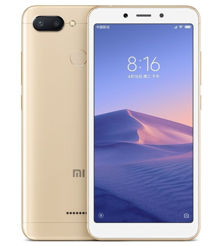 Xiaomi Redmi 6 Dual SIM - 64GB, 4GB RAM, 4G LTE, Gold Global Versia