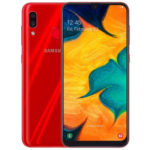 Samsung Galaxy A30 Dual SIM - 64GB, 4GB RAM, 4G LTE, Red