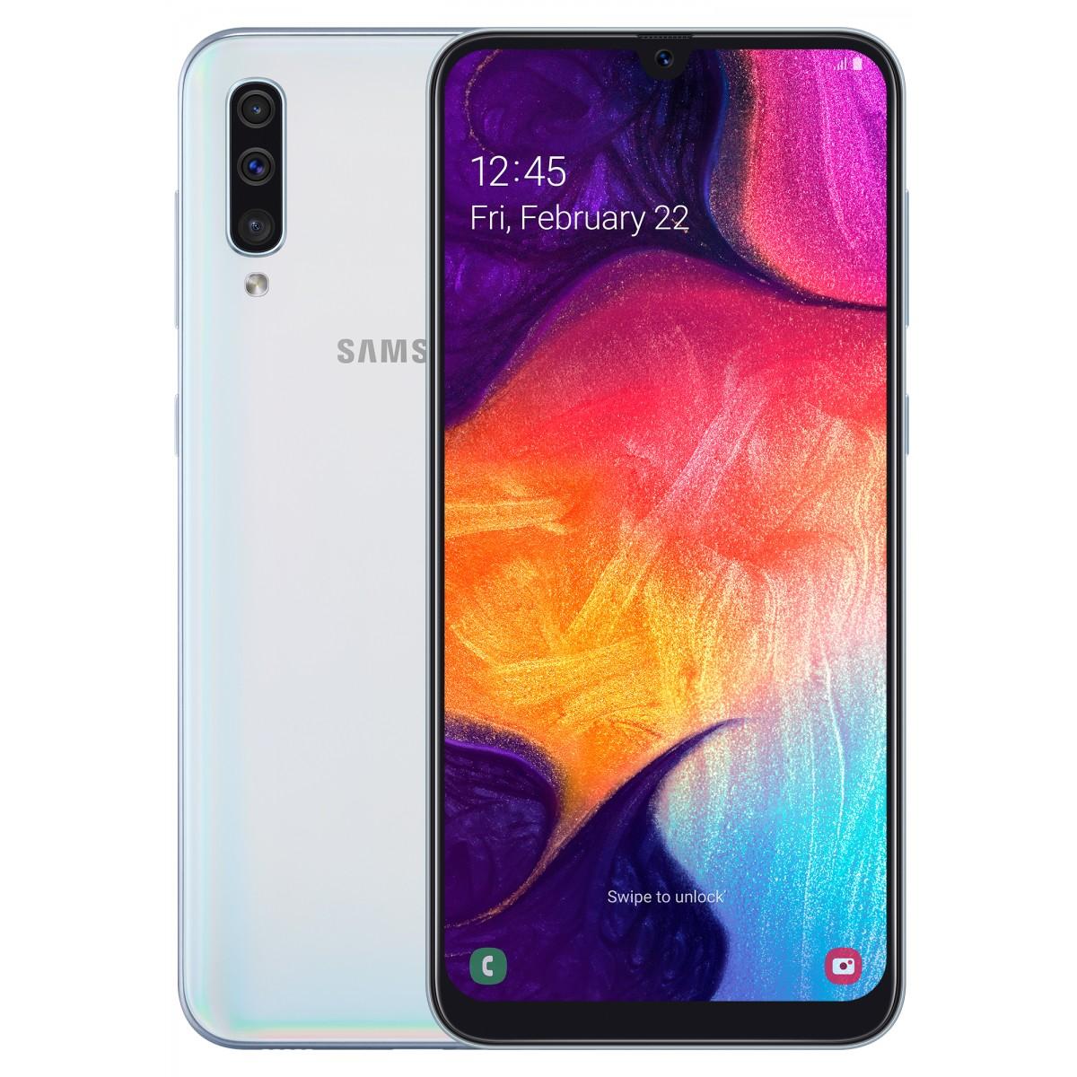 Samsung Galaxy A50 Dual Sim, 128 GB, 4GB RAM,4G LTE, White