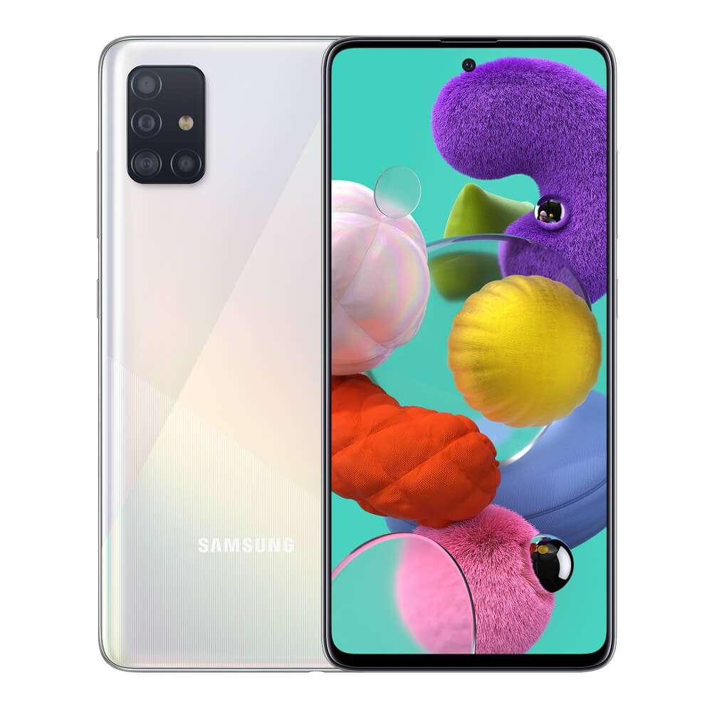 Samsung Galaxy A51 Dual SIM, 128GB, 6GB RAM, 4G LTE, White