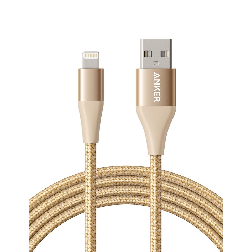 Anker PowerLine+ II Lightning Cable 6ft UN - Golden (A8453HB1)