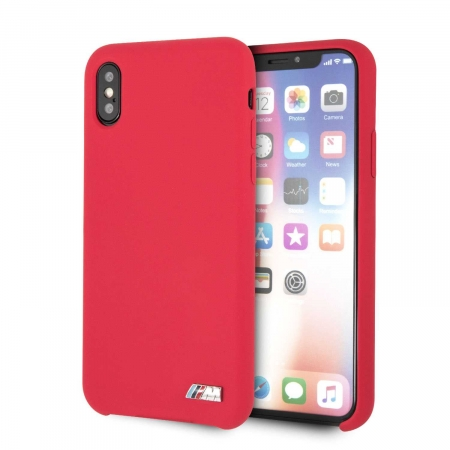 BMW Silicone Hard Case for iPhone X/Xs- Red (BMHCPXMSILRE)