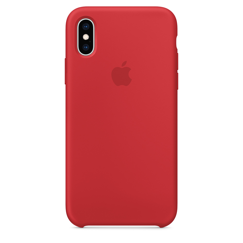 Apple iPhone XS Silicone Case - RED (MRWC2)