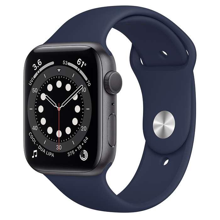 Apple Watch Series 6 GPS 44mm Blue Aluminum, Deep Navy Sport Band (M00J3)