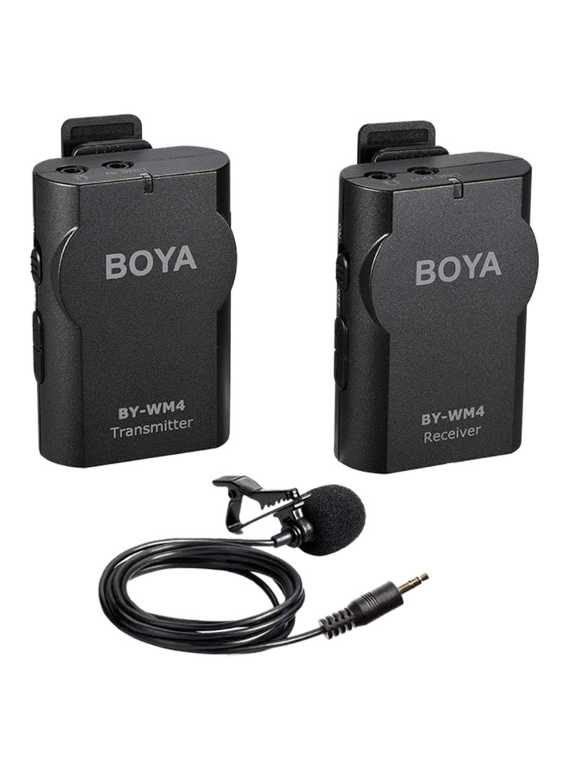 BOYA BY-WM4 High Performance Wireless Microphone Black