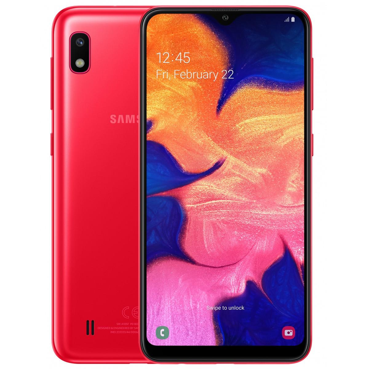 Samsung Galaxy A10 Dual SIM - 32GB, 2GB RAM, 4G LTE, Red