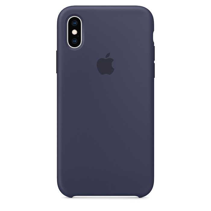 Apple iPhone XS Silicone Case - Midnight Blue (MRW92)