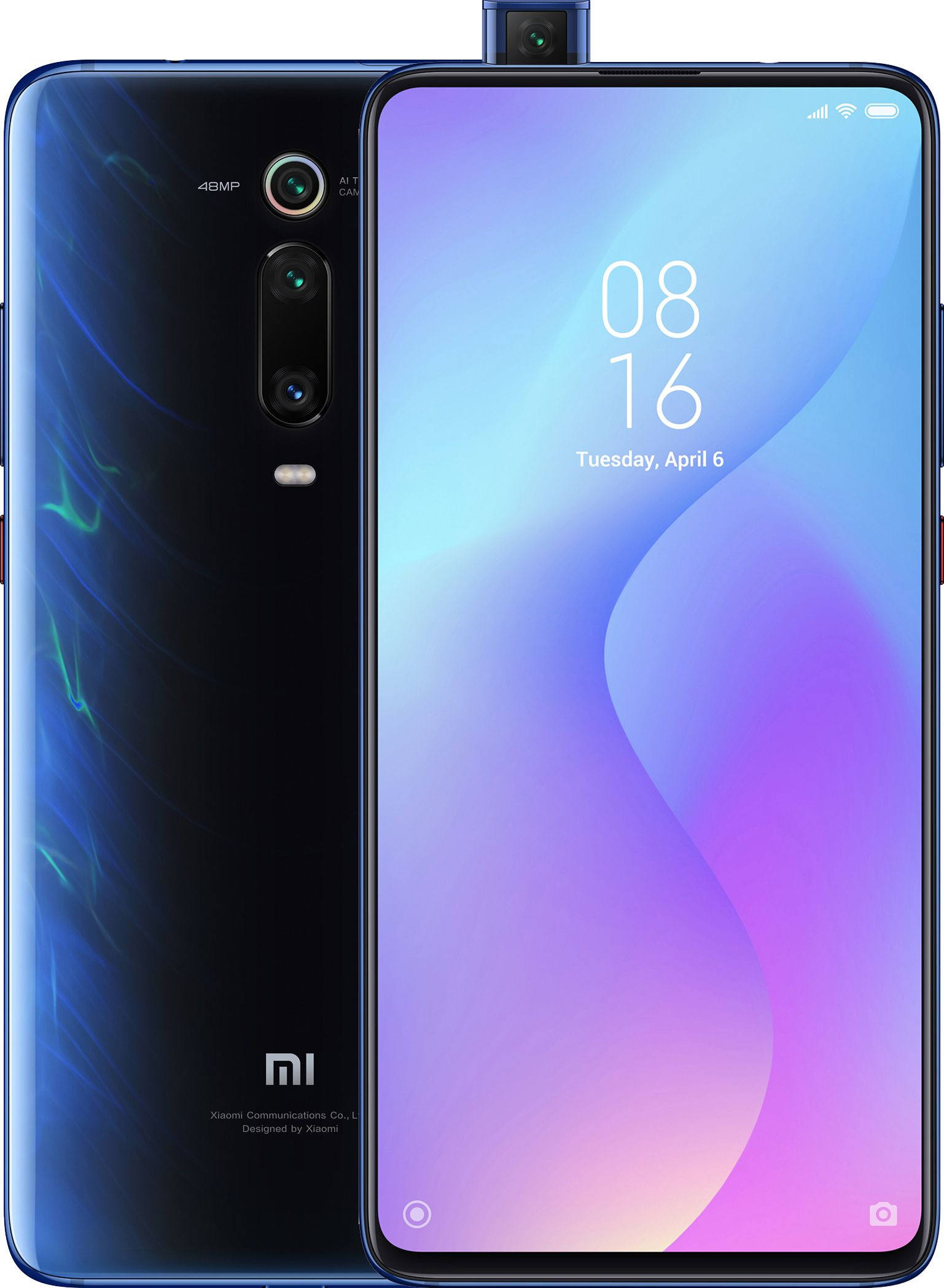 Xiaomi MI 9T Dual SIM - 128GB, 6GB RAM- Global Versia Glacier Blue