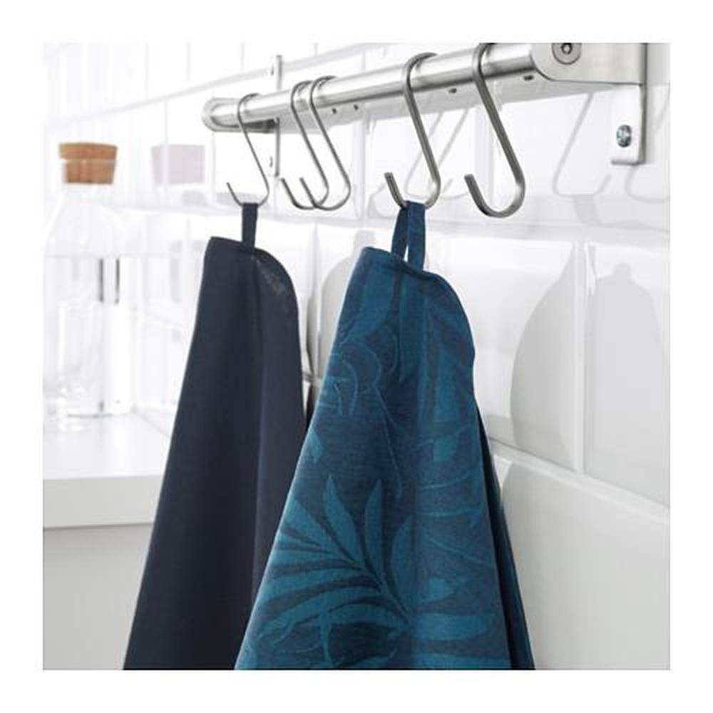 VILDKAPRIFOL Tea towel, blue leaves, 50x70 cm