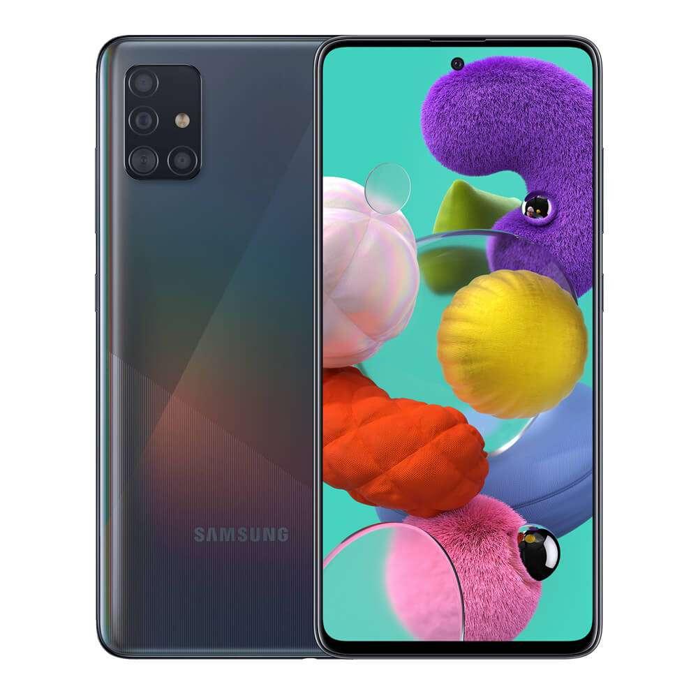Samsung Galaxy A51 Dual SIM, 128GB, 6GB RAM, 4G LTE, Black