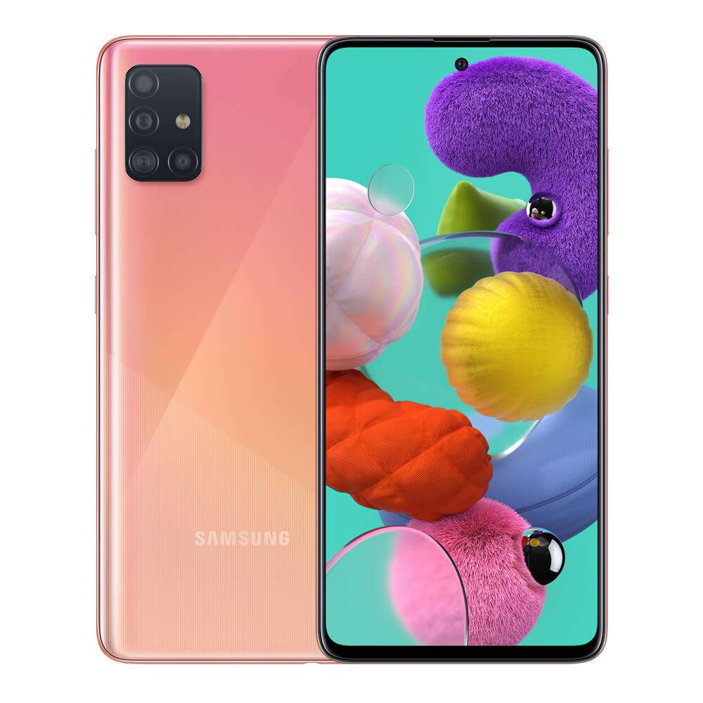 Samsung Galaxy A51 Dual SIM, 128GB, 6GB RAM, 4G LTE, Pink