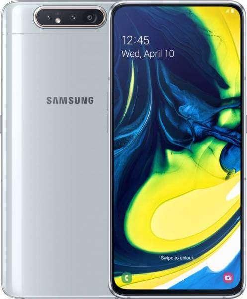 Samsung Galaxy A80 Dual Sim, 128GB, 8GB RAM, 4G LTE, Ghost White