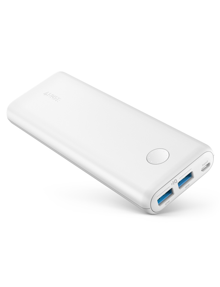 Anker PowerCore II 20000mAh Portable Power Bank UN - White (A1260H21)