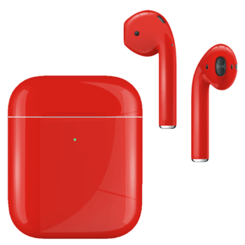 Apple AirPods with Charging Case 2nd Generation Painted Special EDITION Gloss Ferrari Red