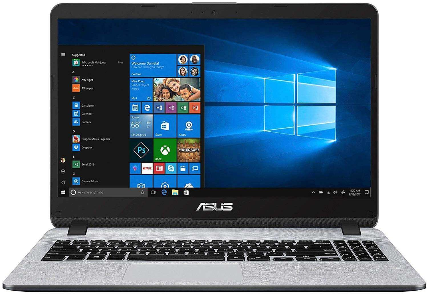 ASUS Vivobook X507UB-EJ296T Laptop With 15.6-Inch Display, Core i7 Processor/8GB RAM/1TB HDD/2GB NVIDIA GeForce MX110 Graphic Card Grey