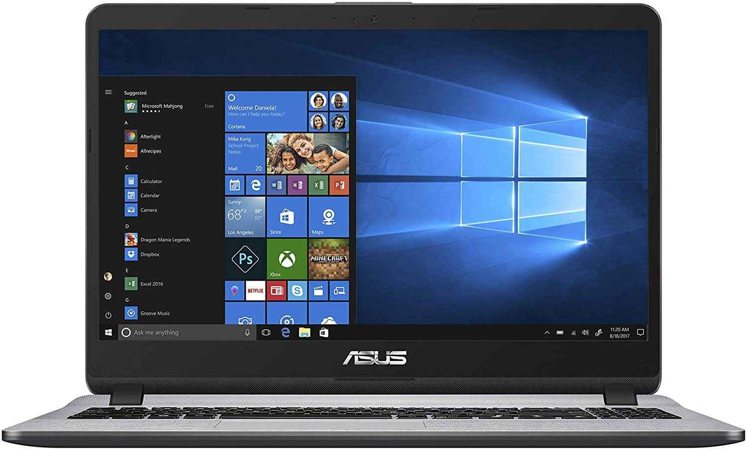 ASUS X507UA Notebook Laptop With 15.6-Inch Display, Core i3 Processor/4GB RAM/1TB HDD/ Intel HD Graphics 520 Grey