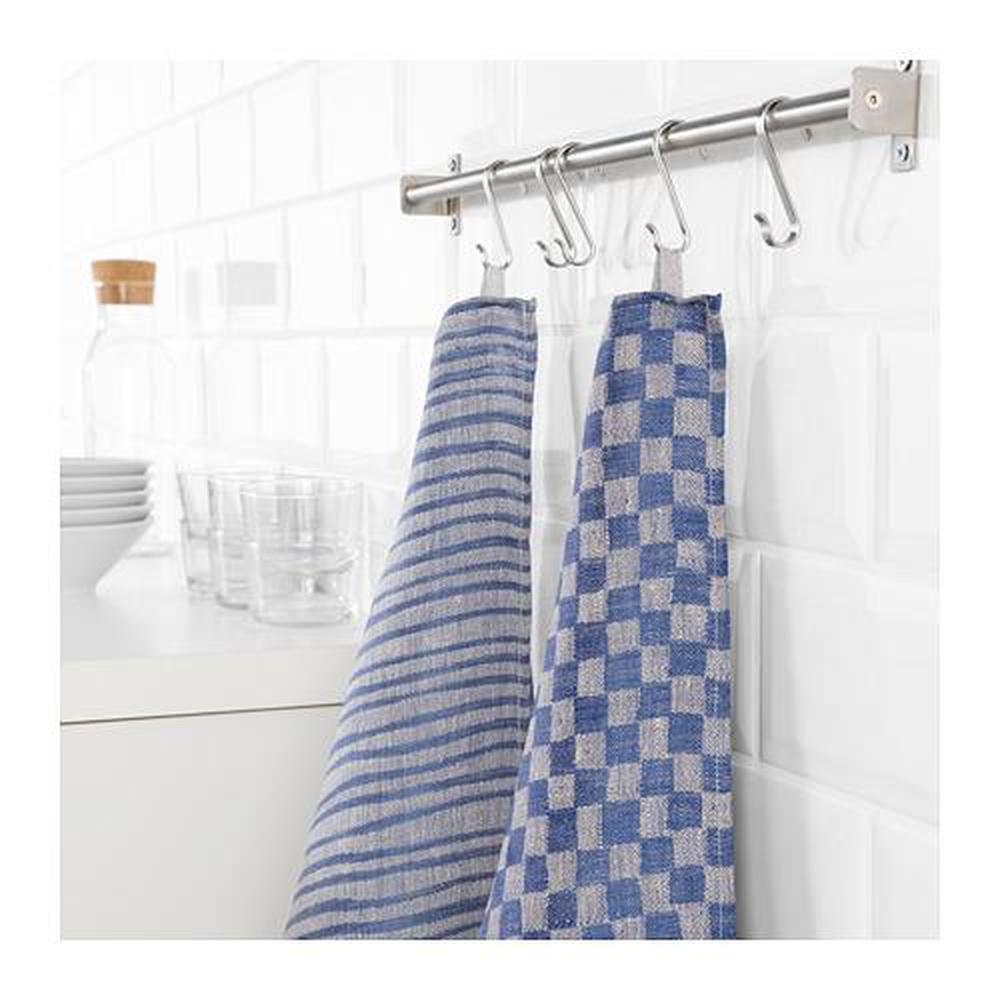 INDUSTRIELL Tea towel, blue, 60x60 cm