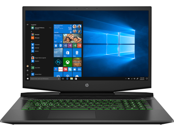 HP Pavilion Gaming Laptop 15.6 inches  15-CX0077WM Core™ i7-8750H , DDR4 16 GB , SSD 128 GB , HDD 1 TB , GTX1060 3 GB ,FHD  Windows 10
