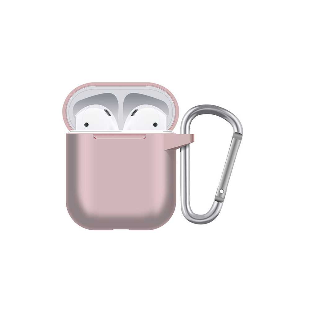 Porodo Silicone Hang Case for Airpods - Pink