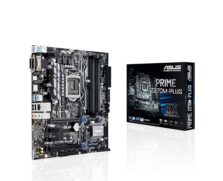 Asus Prime Z270M-Plus Motherboard Lga1151,Ddr4,HDMI,DVI Vga M.2 USB 3.1 Z270 Matx