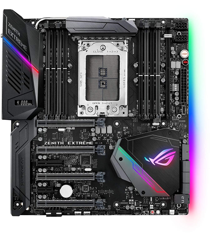 Asus ROG AMD Ryzen Threadripper TR4 DDR4 X399 E-ATX HEDT AURA Sync RGB Lighting Motherboard - 90MB0V70-M0EAY0