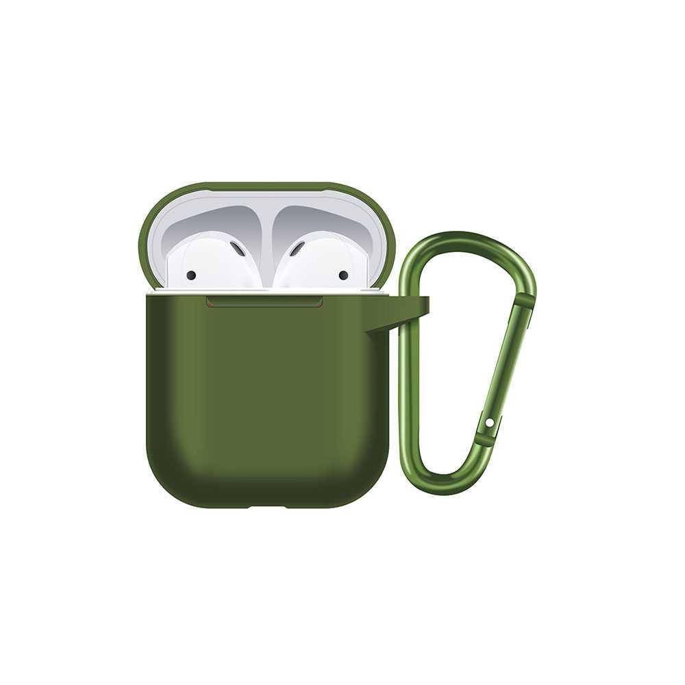 Porodo Silicone Hang Case for Airpods - Green