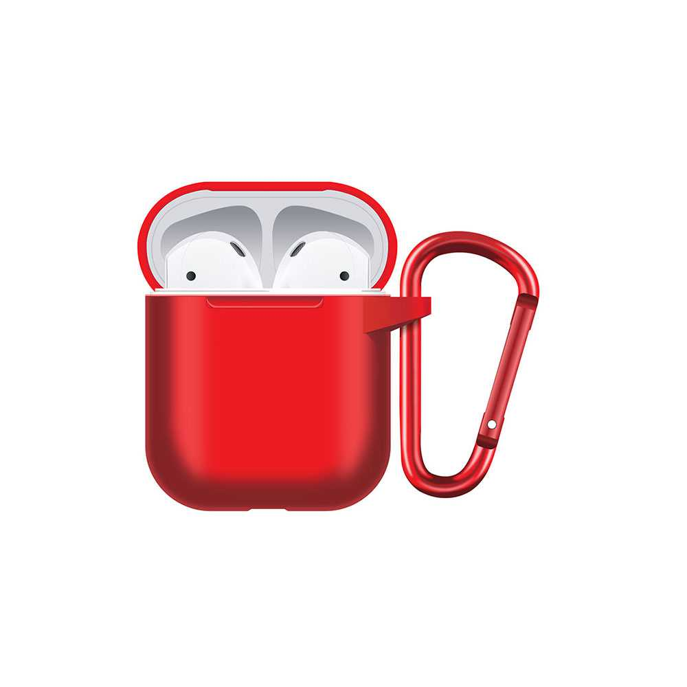 Porodo Silicone Hang Case for Airpods - Red