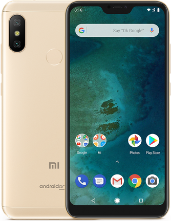 Xiaomi Mi A2 Lite Dual SIM - 32GB, 3GB RAM, 4G LTE, Gold Global Versia