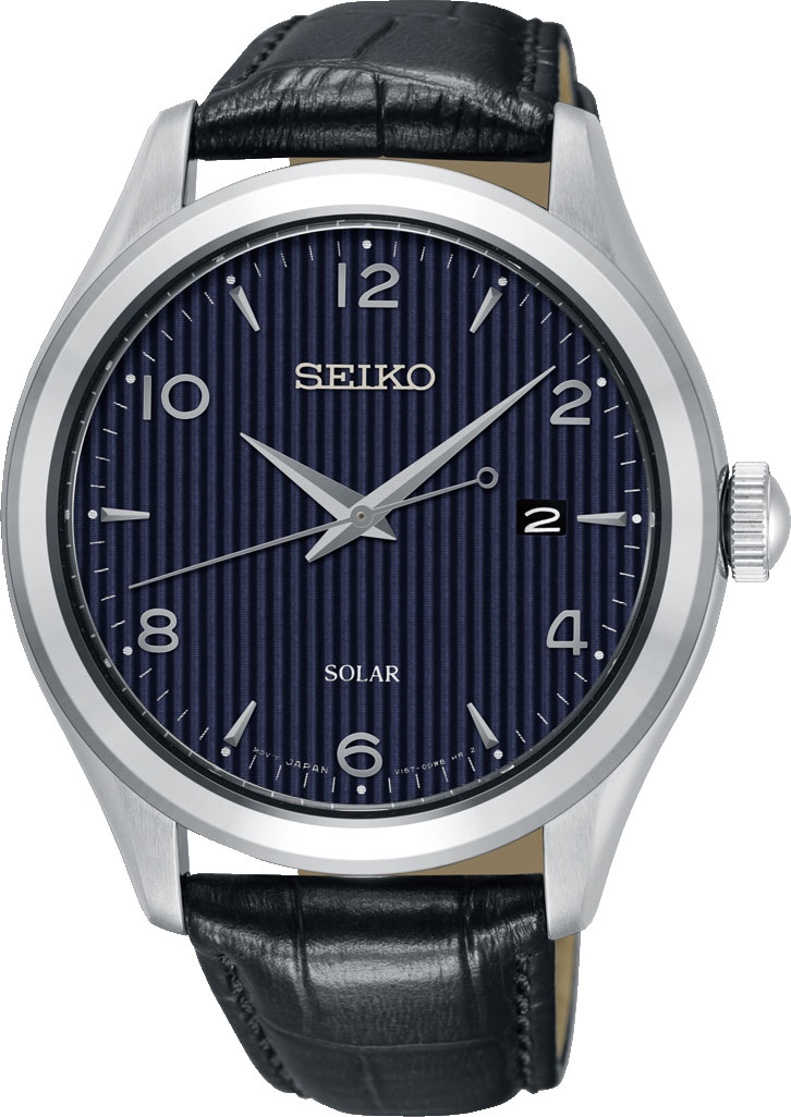 Seiko Unisex Adult Analogue Quartz Watch with Leather Strap SNE491P1