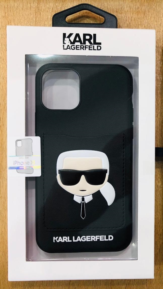 Karl Lagerfeld Choupette Hard Case with Cart Slot For Apple iPhone 11 Pro - Black