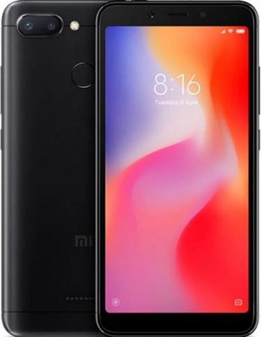 Xiaomi Redmi 6 Dual SIM - 32GB, 3GB RAM, 4G LTE, Black Global Versia