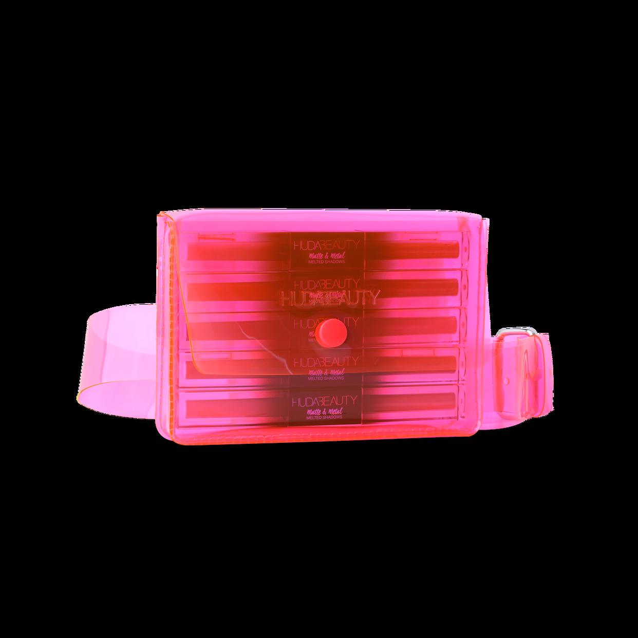 Huda Beauty 5 Melted Shadows + Pink Belt Bag